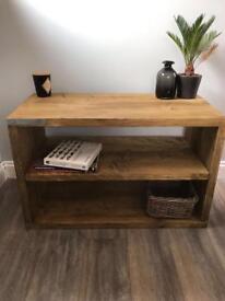 Modern Rustic Industrial Scaffold Wood Tv Stand/Media Unit