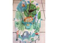 Jungle design baby bouncer only £8!