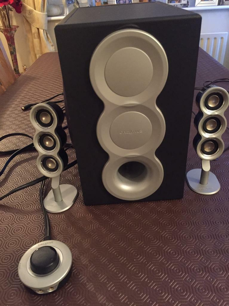 Creative pc speakers with subwoofer