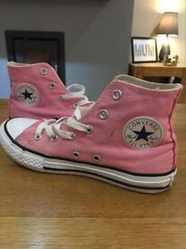 Girls Converse pink boots size 1