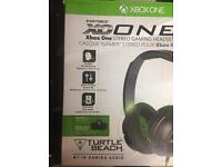 Xbox one with games and headset