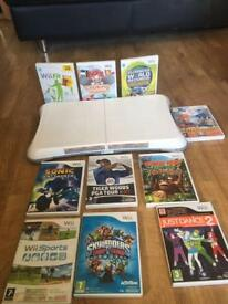 wii board with 10 games