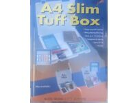 Slim A4 and A3 Tuff storage boxes.