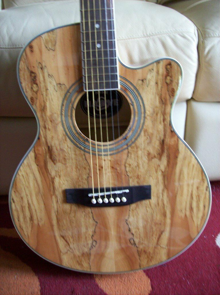 chord N5SM Native Electro-Acoustic Guitar with Spalt Maple ...