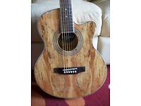 chord N5SM Native Electro-Acoustic Guitar with Spalt Maple Wood Veneer