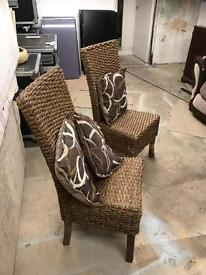 2 wicker chairs - £40 (+£10 delivery in York)