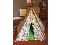 Cath Kidson Indian Fabric Wigwam Play Tent (Folds up)