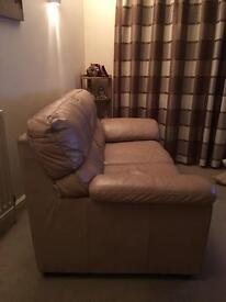 2 x 2 seater leather settees