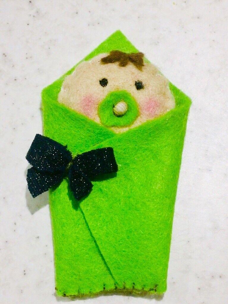 Baby shower/gender reveal/birthday gift set handmade felt craft