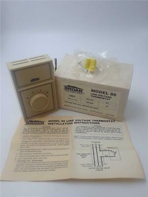 Broan Model 86 Line Voltage Thermostat 22amps 120240 Volts 60hz