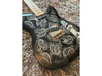Forrest custom guitars silver sparkle paisley b bender USA Telecaster