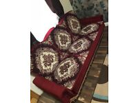 3 seater Settee bed sofa x 2