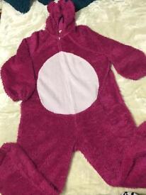 Pink Bear Pyjamas Blanket