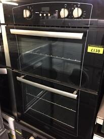 Black belling integrated double oven with 6 month warranty
