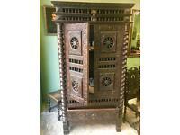 Antique oak cabinet.
