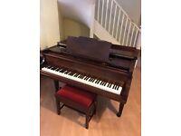 Chappell Baby Grand Piano Mahogany