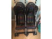 Mothercare xoob2 twin stroller/pushchair