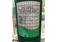Wire netting - green pvc coated
