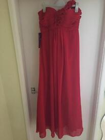 Ladies Red Chiffon Prom/Bridesmaid Dress Size 6-8