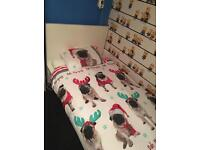 White wooden single bed excellent condition