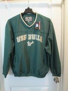 University-South-Florida-USF-Bulls-Officially-Licensed-V-Neck-Windshirt-LG-NEW