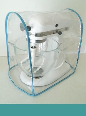 Aqua Trimmed CLEAR MIXER COVER fits KitchenAid Tilt-Head  – (4.5-5 Qt.)