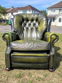 Chesterfield reclining armchair