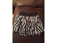Zebra print shirt H&M size 10