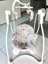 Graco 'Lovin Hug' baby swing in grey. Excellent condition
