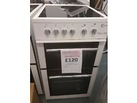 FLAVEL MLB5CDW Electric Ceramic Cooker - White reconditioned 50cm fan oven