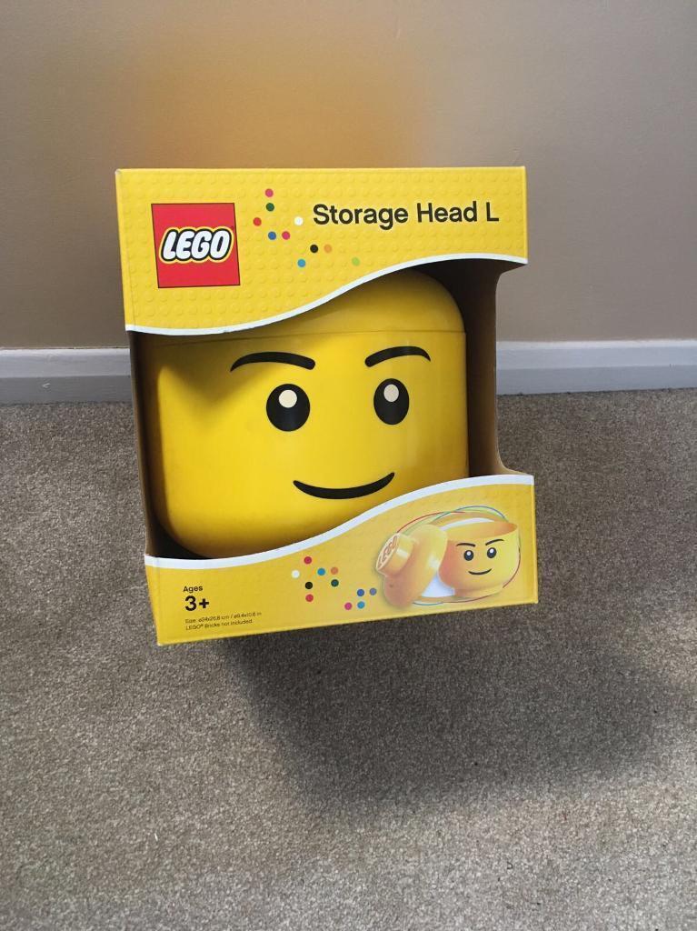 Lego head storage box