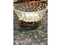 West German crystal cut Glass bowls 4 3/4 inch