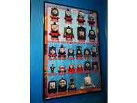 Thomas And Friends Characters Poster In Black Frame