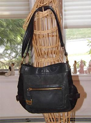 Tignanello Leder Schwarz Hobo Handtasche Viele Taschen ()
