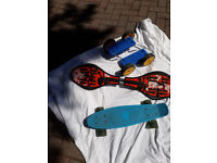 Waveboard and skateboard keep kids entertained ....... £15