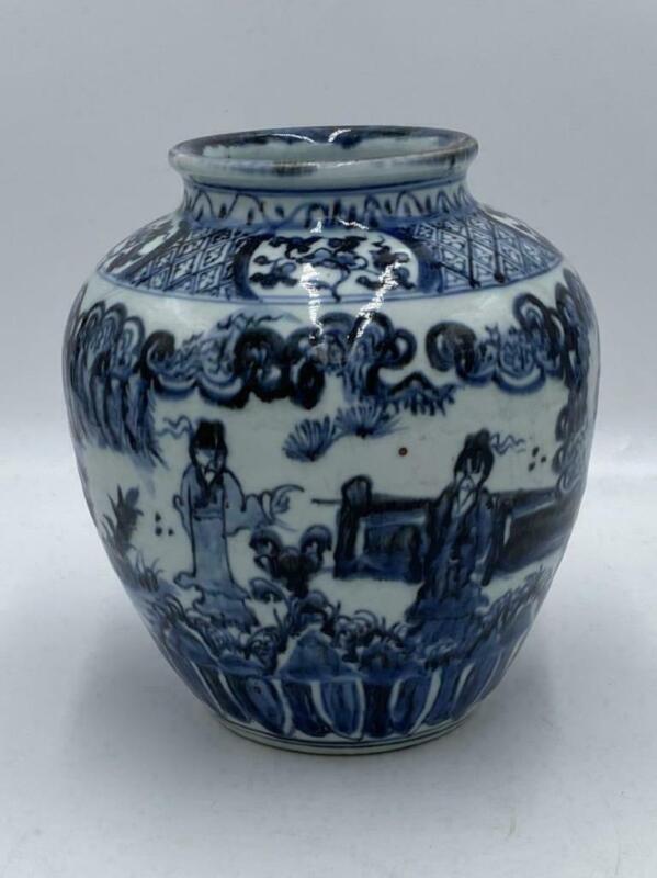 Chinese Old Yuan Ming Jar Vessel / H 19.5[cm] / Pot Vase Bowl Plate