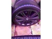 "Bmw m3 mv2 19"" black alloy wheel Can post"