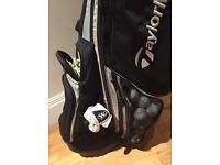 TaylorMade double strap & stand golf bag/balls/tees/gloves