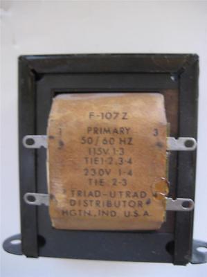 Triad Control Transformer F-107z Dual Sec 12 Or 24v 2 Or 4 A Prim 115230 V Nos