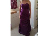 Bridesmaid dress size 10 Dark purple Eggplant colour