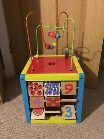 WOODEN ACTIVITY CUBE TOY