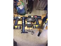 Ryobi one + power tools includes 3 x 18v batteries