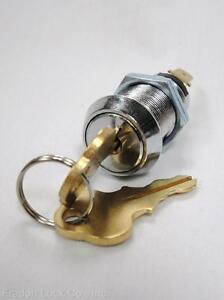 Key Switch Momentary Double Sided Universal Cam Lock garage low voltage