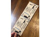 Ed Sheeran Tickets x2