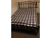 Metal double bed frame with mattress/ FREE DELIVERY