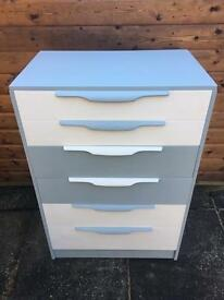 Grey & White Chest ( Can Deliver )