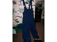 blue skiing trousers
