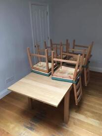 Ikea table - norden with 4 chairs- perfect condition