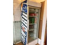 Glass window drink fridge