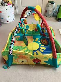 Beautiful colourful baby gym